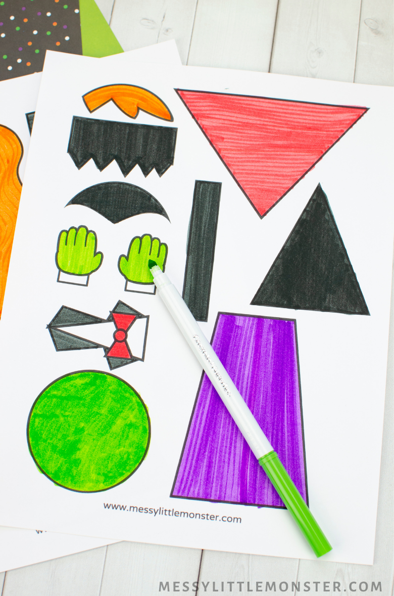 Printable Halloween crafts template