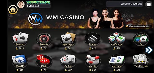 WM Casino là sảnh chơi Sicbo Tài Xỉu uy tín nhất