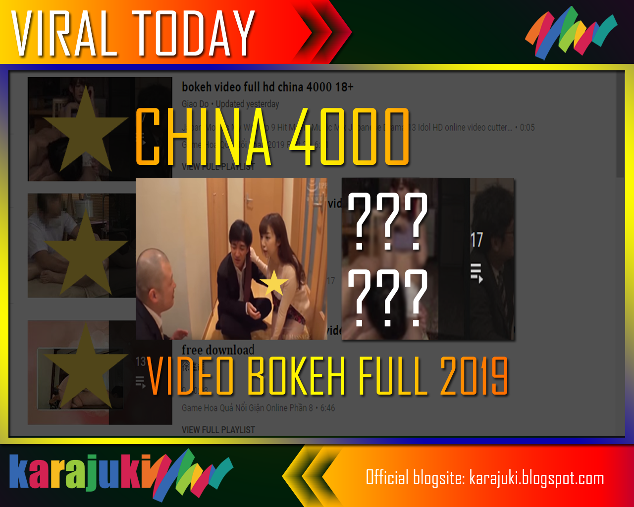 The Latest Video Bokeh Full 2019 China 4000 - KARAJUKI