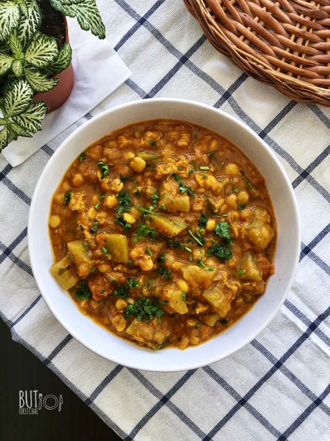 Lauki Chana Dal | Bottle Gourd and Bengal Gram Lentil Curry