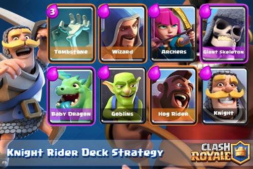 Strategi Deck Knight dan Hog Rider Arena 4 Clash Royale
