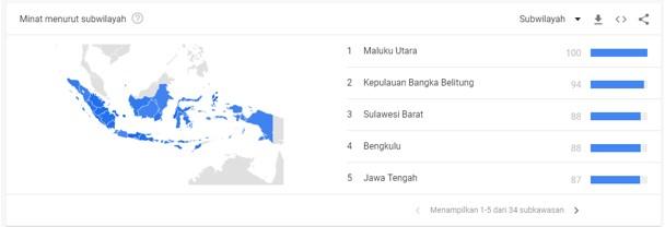 Informasi Wilayar Penelusuran Google Trends