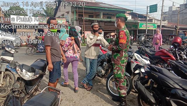 Personel Jajaran Kodim 0208/Asahan Laksanakan Komsos Dengan Petugas Keamanan Parkir