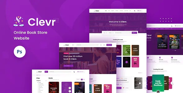 Best Book Store Ecommerce Website PSD Template