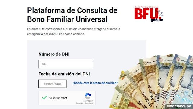 WWW.BFU.GOB.PE: Tercer bono 600 soles: ¿Soy beneficiario del nuevo subsidio estatal? CONSULTA AQUÍ con tu DNI