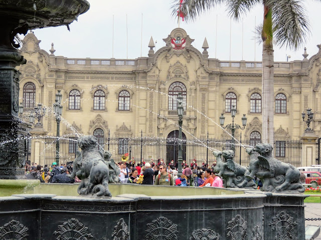 Views of Plaza de Armas in Lima Peru