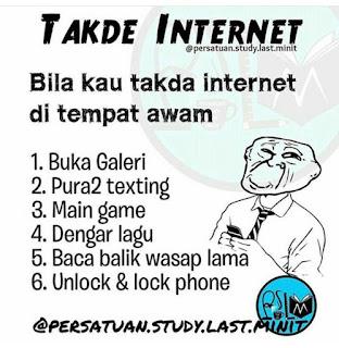 6 PERKARA KORANG MEMANG BUAT BILA TIADA INTERNET, boring, kenapa line internet tiada