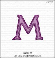 ODBD Custom Letter M Die