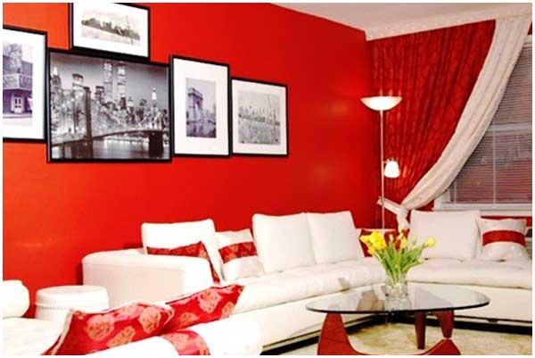 warna cat ruang tamu merah