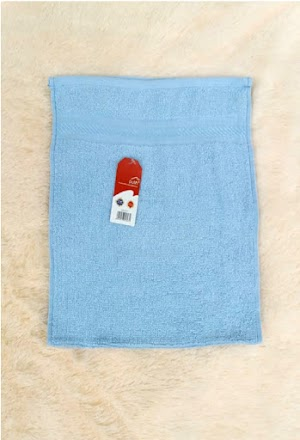 Handuk Mini Lembut Warna Baby Blue
