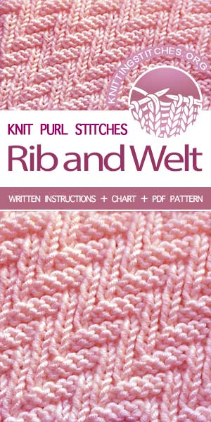 Free Knitting Patterns — #KnitPurl Rib & Welt stitch #knittingpatterns