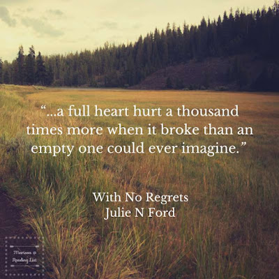 With No Regrets   by Julie N Ford    a book review feature on Reading List