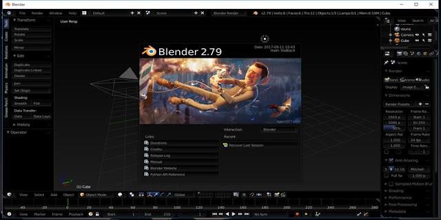 Spesifikasi PC Blender 3D