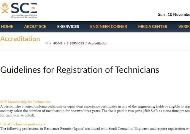 Procedure to register membership in Saudi Council as Technician