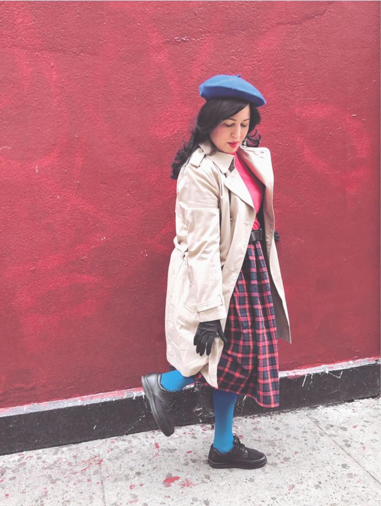 A Vintage Nerd, Vintage Blogger, Classic Film Blog, Old Hollywood Blog, Retro Blog, Retro Lifestyle Blog, Retro Fashion Inspiration, Plus Size Retro Fashion, Disability and Fashion, Leg Braces and Fashion, Une Femme Est Une Femme, Une Femme Est Une Femme Fashion, Une Femme Est Une Femme Recreates, A Vintage Nerd Recreates, Old Hollywood Fashion Inspiration, Sixties Style, Sixties Fashion, Anna Karina Fashion, Anna Karina Fashion Inspiration, Sixties Beret, Plaid Skirt Modcloth, Modern Retro Fashion, Recreates, Classic Film Fashion Inspiration