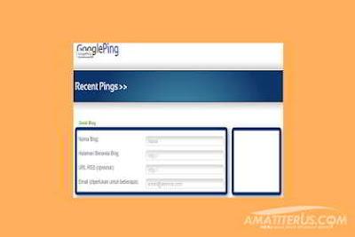 Cara Mudah Ping Artikel Blog Agar Cepat Terindex Google