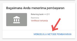 Cara Mudah memasukan rekening bank ke akun Adsense IDR