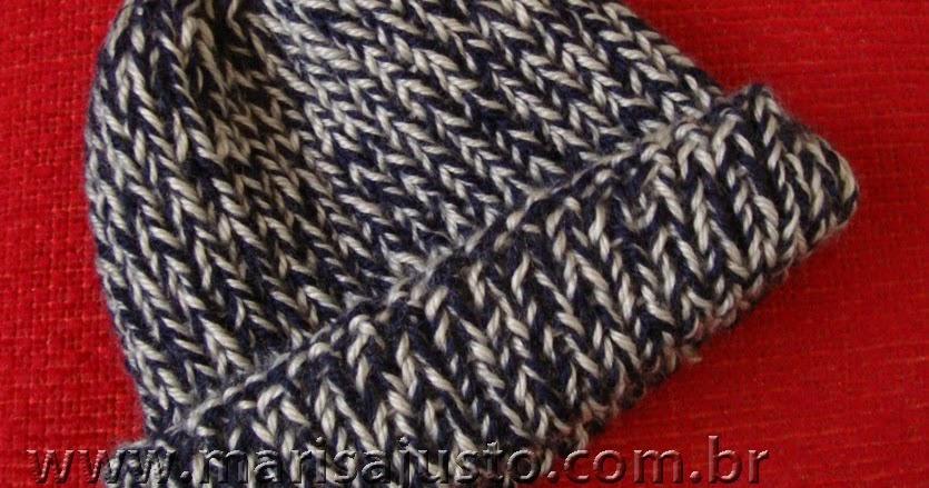 Marisa Almeida Tricot Crochet   Gorro Tricot Masculino 7163b1c131f