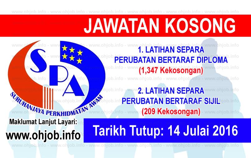 Jawatan Kerja Kosong Suruhanjaya Perkhidmatan Awam (SPA) logo www.ohjob.inf julai 2016