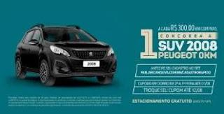 Promoção Aricanduva Shopping Dia dos Pais 2019 - SUV 2008 Peugeot 0KM