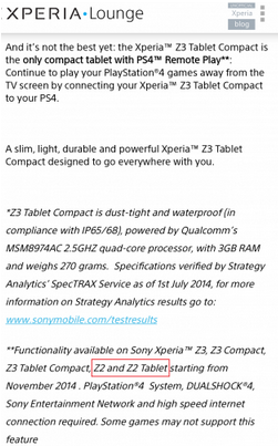 Sony will bring PS4 Remote Play feature to Xperia Z2 and Xperia Z2 tablet
