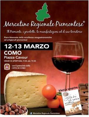 Mercatino Regionale Piemontese 12 e 13 marzo Como 2016