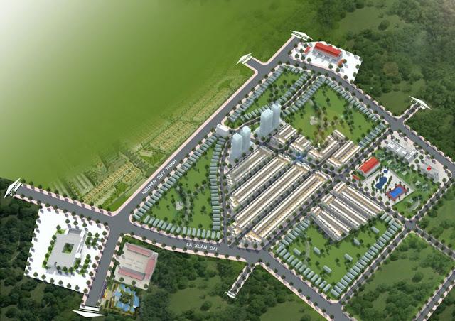 Mặt bằng tổng thể dự án Nam Khang Residence Quận 9