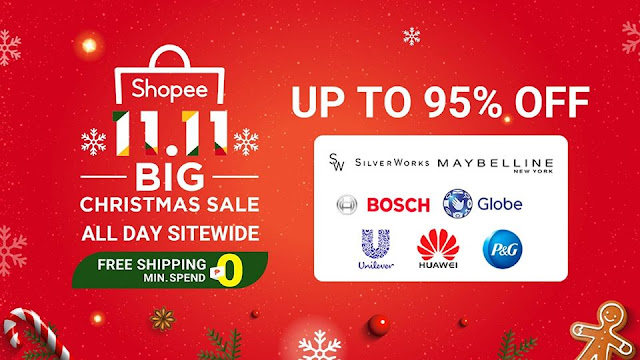 Shopee 11.11 Big Christmas Sale with discounts up to 95% off