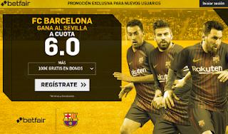 betfair supercuota victoria del Barcelona al Sevilla 4 noviembre
