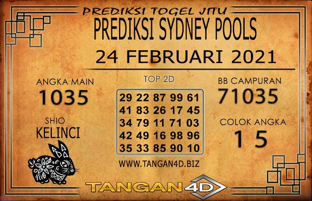 PREDIKSI TOGEL SYDNEY TANGAN4D 24 FEBRUARI 2021