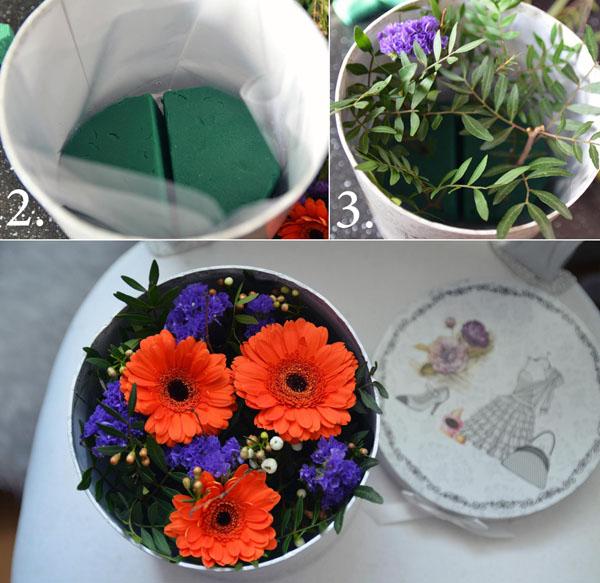 Bật mí 3 cách cắm hoa trong hộp quà xinh lung linh
