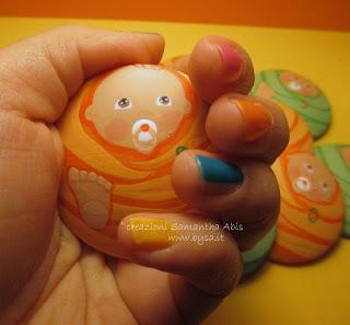 Bomboniere compleanno bambino magneti