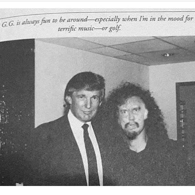 Donald Trump posing with GG Allin.  PunkMetalRap.com