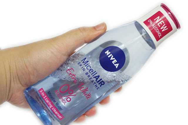 Nivea Extra White Micellar Water 0% Alcohol 3-in-1 Caring Cleanser