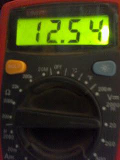 dcv multimeter reading