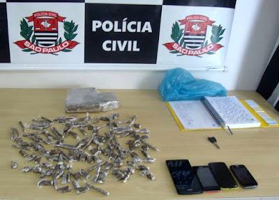 POLÍCIA CIVIL  PRENDE CINCO TRAFICANTES EM REGISTRO-SP