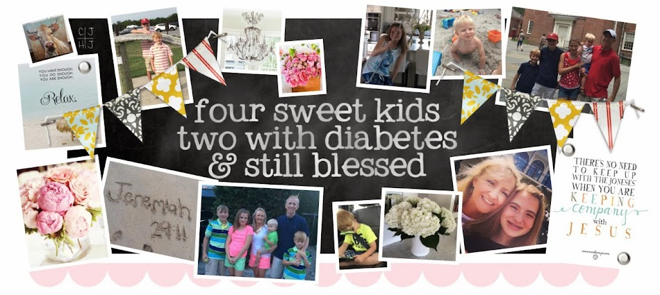 four sweet kids..two with diabetes