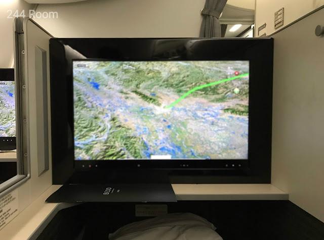JALビジネスクラスシートディプレイ Business class display