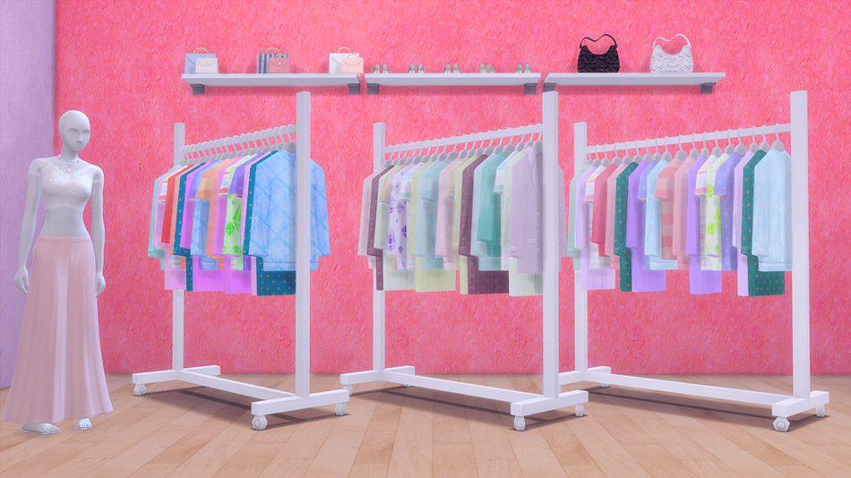 My Sims 4 Blog Ts3 To Ts4 Clothing Rack Recolors By