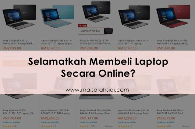 Selamatkah Membeli Laptop Secara Online?