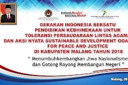GERAKAN INDONESIA BERSATU : PENDIDIKAN KEBHINEKAAN DAN AKSI NYATA SDGS FOR PEACE AND JUSTICE