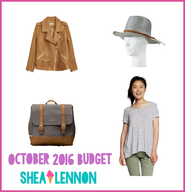 October clothing budget | www.shealennon.com