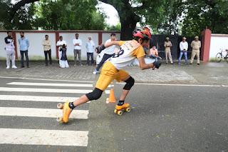 #JaunpurLive : डीएम आवास पर हुई स्केटिंग प्रतियोगिता