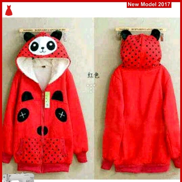 MSF0064 Model Jaket Panda Murah Red Modis BMG