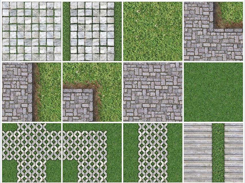 9 Seamless Paving Stone Sidewalks 9a