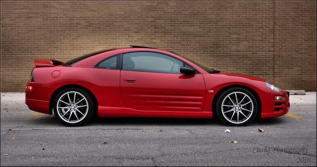 Mitsubishi Eclipse 3G, D50, czerwony, usportowione auto