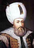 Kanuni Sultan Süleyman'ın bir portre resmi