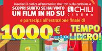 Logo Crai ''Vinci il tuo tempo libero'': con 5.000 codici Chili e 10 buoni da 1.000€ !