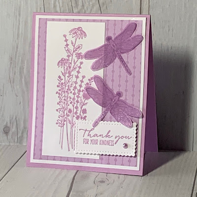 Floral Dragonfly greeting card using the Dragonfly Garden Stamp Set from Stampin' Up!