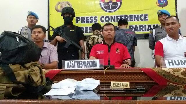 Polisi Padangpariaman Tangkap Bandar Pembawa 600 gram Shabu di BIM